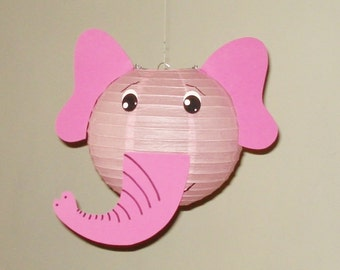 PINK  Elephant Paper Lantern. Safari Party Decorations, Baby Shower, Room Decor, nursery decor. Jungle party.