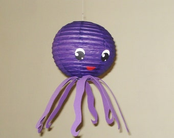 octopus Paper Lantern. (Purple) Party Decorations, Baby Shower, Room Decor, nursery decor.