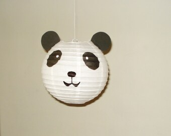 Panda Paper Lantern. Party Decorations, Baby Shower, Room Decor, nursery decor. Jungle party.