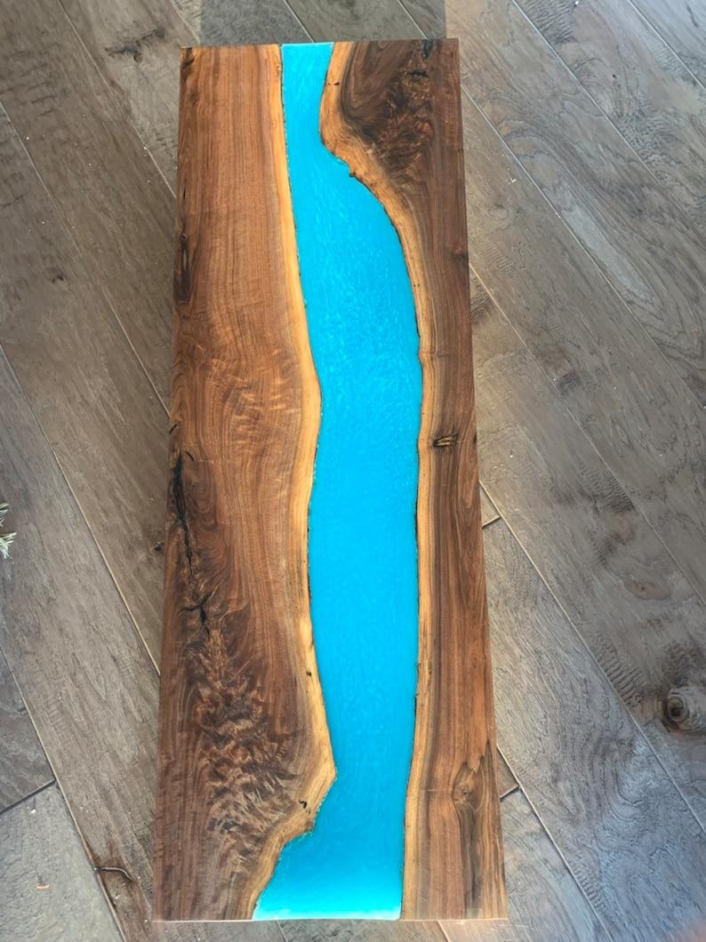 Epoxy Resin and Walnut Slab/Tabletop/Wall-Art