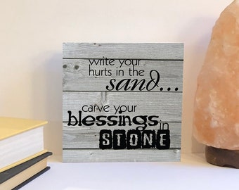 Write Your Hurts in the Sand Carve Your Blessings God Wall Decal Vinyl Art R54