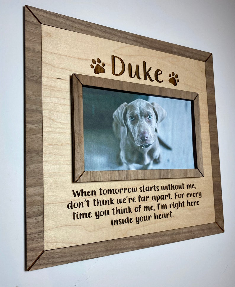 pet loss gift memorial sign memorial gift pet sign Personalized sign pet sympathy gift gift for dog lover pet memorial frame