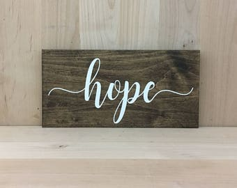 Hope wood sign, hope wall decor, hope home decor wall art, hope sign, hope wooden sign, inspirational quote, positive quotes, hope wall art,