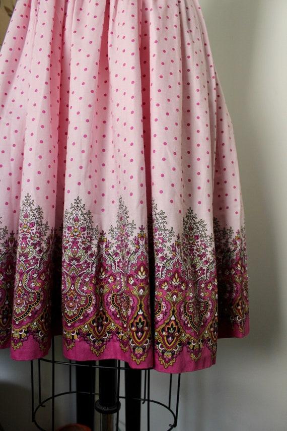 1950s Sundress / Vintage 50s Floral Print Dress /… - image 2