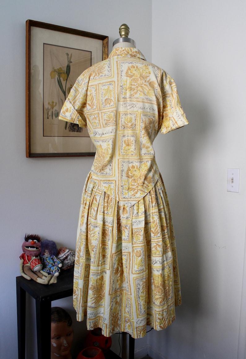 1950s Set  Vintage 50s Full Skirt Blouse and Skirt  S