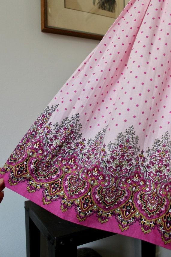 1950s Sundress / Vintage 50s Floral Print Dress /… - image 3
