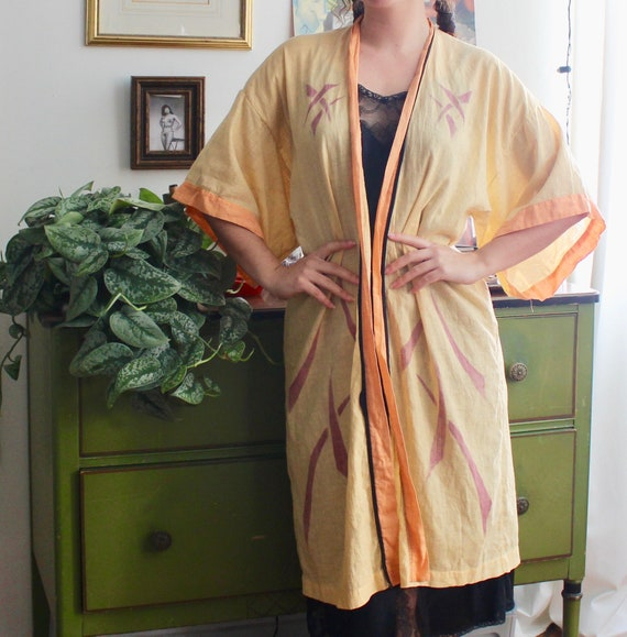 1920s Cotton Robe / Vintage Antique 20s Cotton Rob