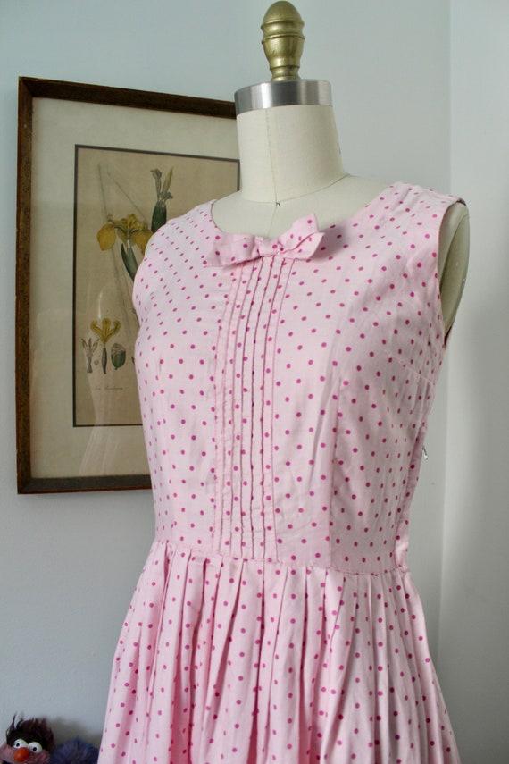 1950s Sundress / Vintage 50s Floral Print Dress /… - image 4