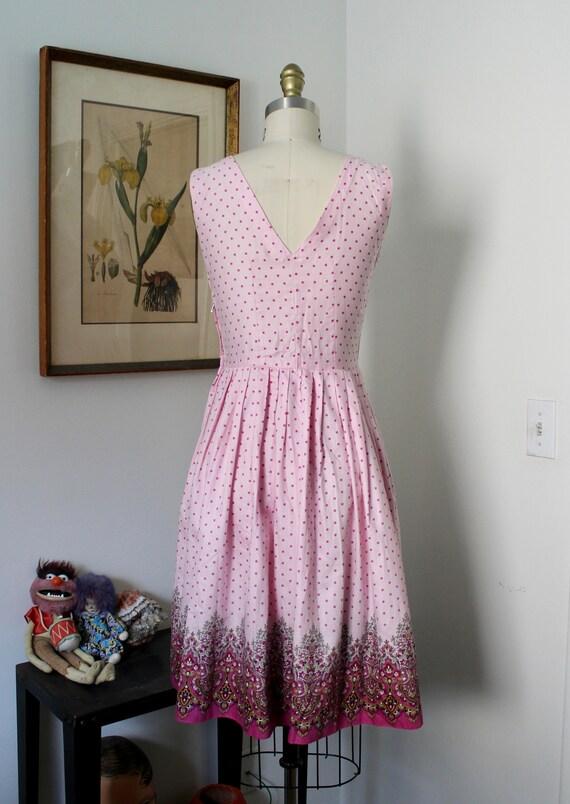 1950s Sundress / Vintage 50s Floral Print Dress /… - image 6