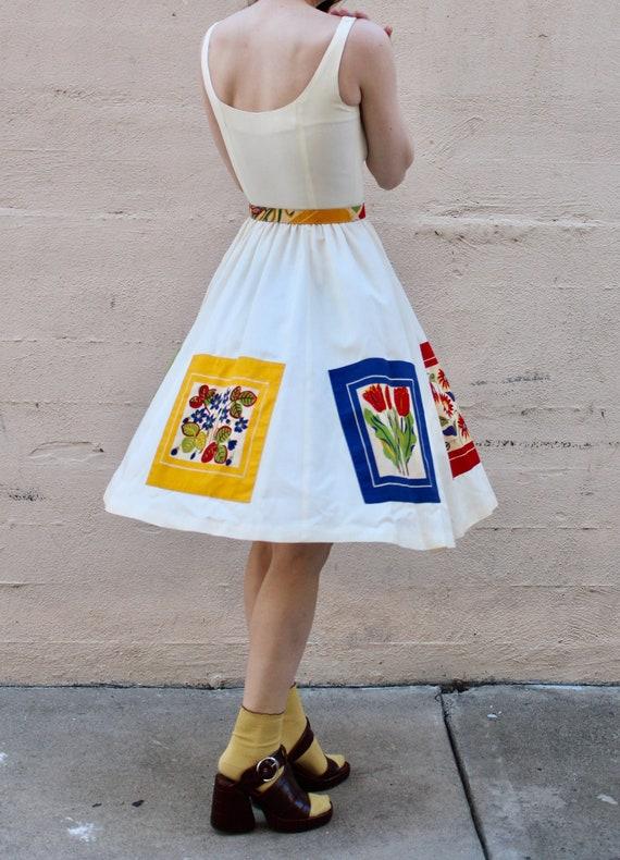 1960s Patchwork Sundress / Vintage 50s 60s Floral… - image 3