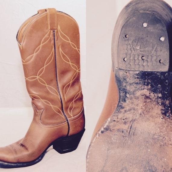Vaquero de Tony Lama Western botas todo cuero Color marrón  1047b756901f1
