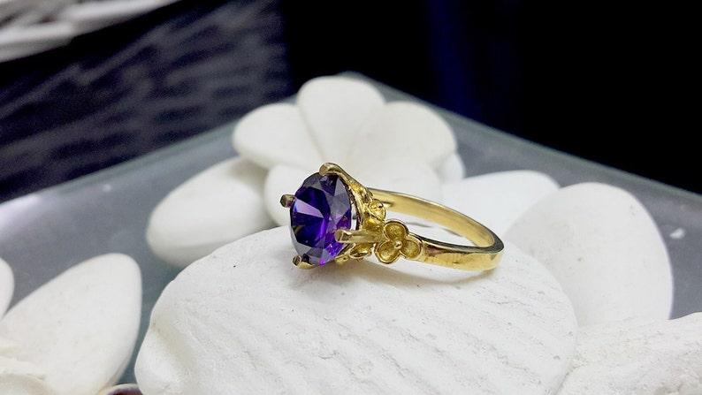 boho waw ring gemstone ring cocktail round ring,bridal jewelry gold ring SALE Amethyst ring,stack purple ring