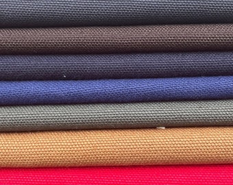 "68"" 100% Cotton Canvas 12 OZ Multiple Colors Apparel & Upholstery Woven Fabric By the Yard"