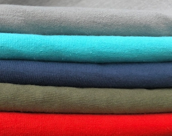 """58"""" 100% Cotton Heavy Jersey Knit Fabric By the Yard"""