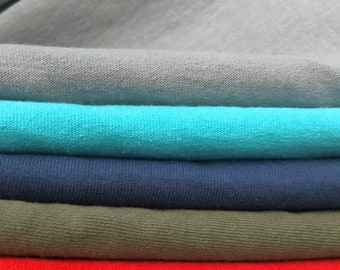 "58"" 100% Organic Cotton Heavy Jersey Knit Fabric By the Yard"