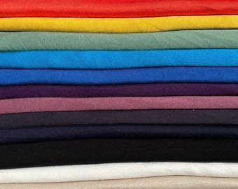 """60"""" Bamboo & Rayon 4-Way Stretch with Spandex 200 GSM Solid Jersey Knit Fabric By the Yard"""