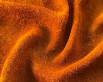 "52"" Orange 100% Tencel Lyocell Cupro Georgette 4.5 OZ Light Woven Fabric By the Yard"