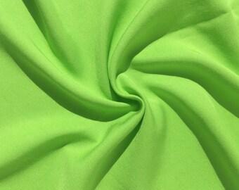 "60"" 100% Lyocell Tencel Gabardine Twill Eco Friendly Medium Weight Chartreuse Green Woven Fabric By The Yard"
