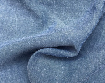 "58"" 100% Tencel Lyocell Twill Enzymed Wash Medium Weight 6 OZ Sky Blue Woven Fabric By the Yard"