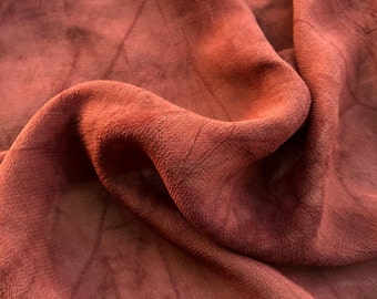 """44"""" Rustic Brown 100% Tencel Lyocell Cupro Georgette 4.5 OZ Light Woven Fabric By the Yard"""