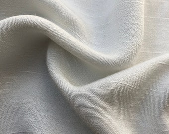 "58"" Tencel Lyocell Rayon PFD White Woven Fabric By the Yard"