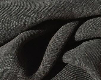 """58"""" 100% Lyocell Tencel Gabardine Twill Enzymed Wash Medium Weight Black Woven Fabric By The Yard"""