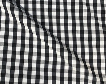 "58"" 100% Cotton Poplin 5 OZ Plaid Checkered Gingham Apparel and  Woven Fabric By the Yard"