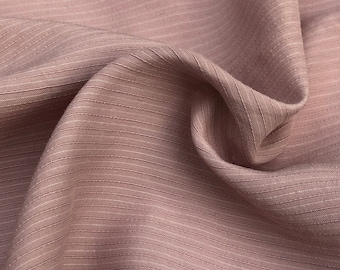 """58"""" Tencel Lyocell Cotton Striped Light Medium Weight Pink & White Woven Fabric By the Yard"""
