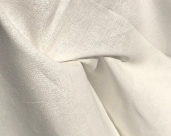 """60"""" 100% Cotton 5 OZ Sheeting White Apparel &  Woven Fabric By the Yard"""