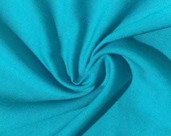 "60"" 100% Lyocell Tencel Gabardine Twill Eco-Friendly Apparel Medium Weight Azure Blue Woven Fabric By The Yard"