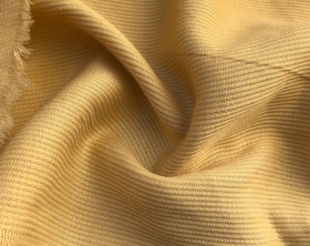 "60"" 100% Tencel Lyocell Bull Denim Twill Yellow Heavy Woven Fabric By the Yard"