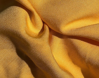 "60"" Butter Yellow 100% Lyocell Tencel Gabardine Twill Eco Friendly Medium Weight Apparel Woven Fabric By The Yard"