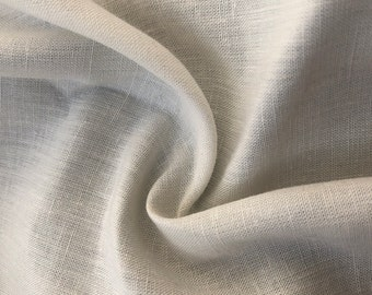 "60"" Linen Cotton 3.5 OZ Handkerchief Ivory Woven Fabric By the Yard"