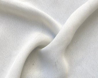 "58"" 100% Tencel Lyocell Georgette Solid White Light Woven Fabric By the Yard"