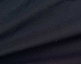 """58"""" 100% Rayon Crepe Black 6 OZ Light Woven Fabric By the Yard"""
