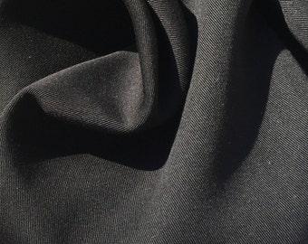 "60"" Jet Black 100% Lyocell Tencel Gabardine Twill Eco Friendly Medium Weight Woven Fabric By The Yard"
