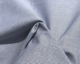 """58"""" 100% Cotton Poplin Checkered Check Apparel & Face Mask Woven Fabric By the Yard"""