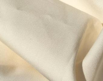"60"" PFD 100% Lyocell Tencel Gabardine Twill Eco Friendly Medium Weight Ivory Woven Fabric By The Yard"