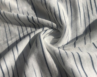 "62"" 100% Modal Slob White & Black Tiger Striped Jersey Knit Fabric By the Yard"