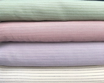 """58"""" Tencel Lyocell & Cotton Striped Multicolor Rainbow Medium Weight Woven Fabric By the Yard"""