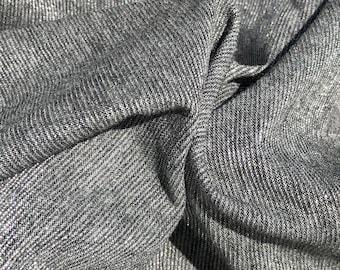 "58"" Metallic Shiny Sparkle Glitter Gray Grey 100% Acetate Knit Fabric By the Yard"