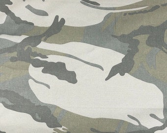 "60"" 100% Cotton Twill 7 OZ Dark Green Camouflage Camo Print Apparel &  Woven Fabric By the Yard"