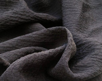 """58"""" 100% Tencel Lyocell Ghost Black Woven Fabric By the Yard"""