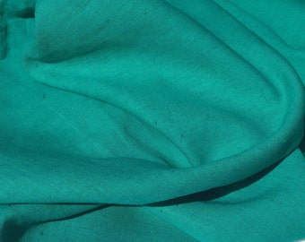 "60""  Tencel Lyocell & Linen Pre-washed Turquoise Teal Blue Light Weight Woven Fabric By the Yard"