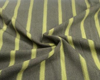 "66"" Striped Modal Spandex Lycra Elastane Stretch Yarn Dyed Lime Green Knit Fabric By the Yard"