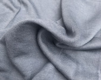 "60"" 100% Modal Solid Light Gray Jersey Knit Fabric By the Yard"