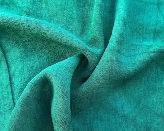 "42"" Pine Green 100% Tencel Lyocell Cupro Georgette 4.5 OZ Light Woven Fabric By the Yard"