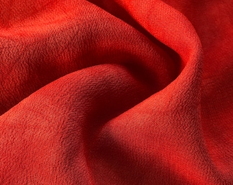"44"" Red 100% Tencel Lyocell Cupro Georgette 4.5 OZ Light Woven Fabric By the Yard"