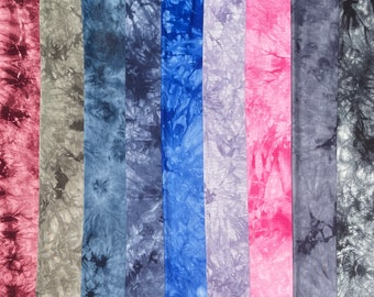"""60"""" Bamboo 4-Way Stretch with Spandex Tie Dye Tie Dyed Apparel Jersey Knit Fabric By the Yard"""