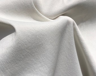 "58"" PFD Cotton Rayon Lycra Spandex Stretch Twill White 7.5 OZ Apparel Woven Fabric By the Yard"